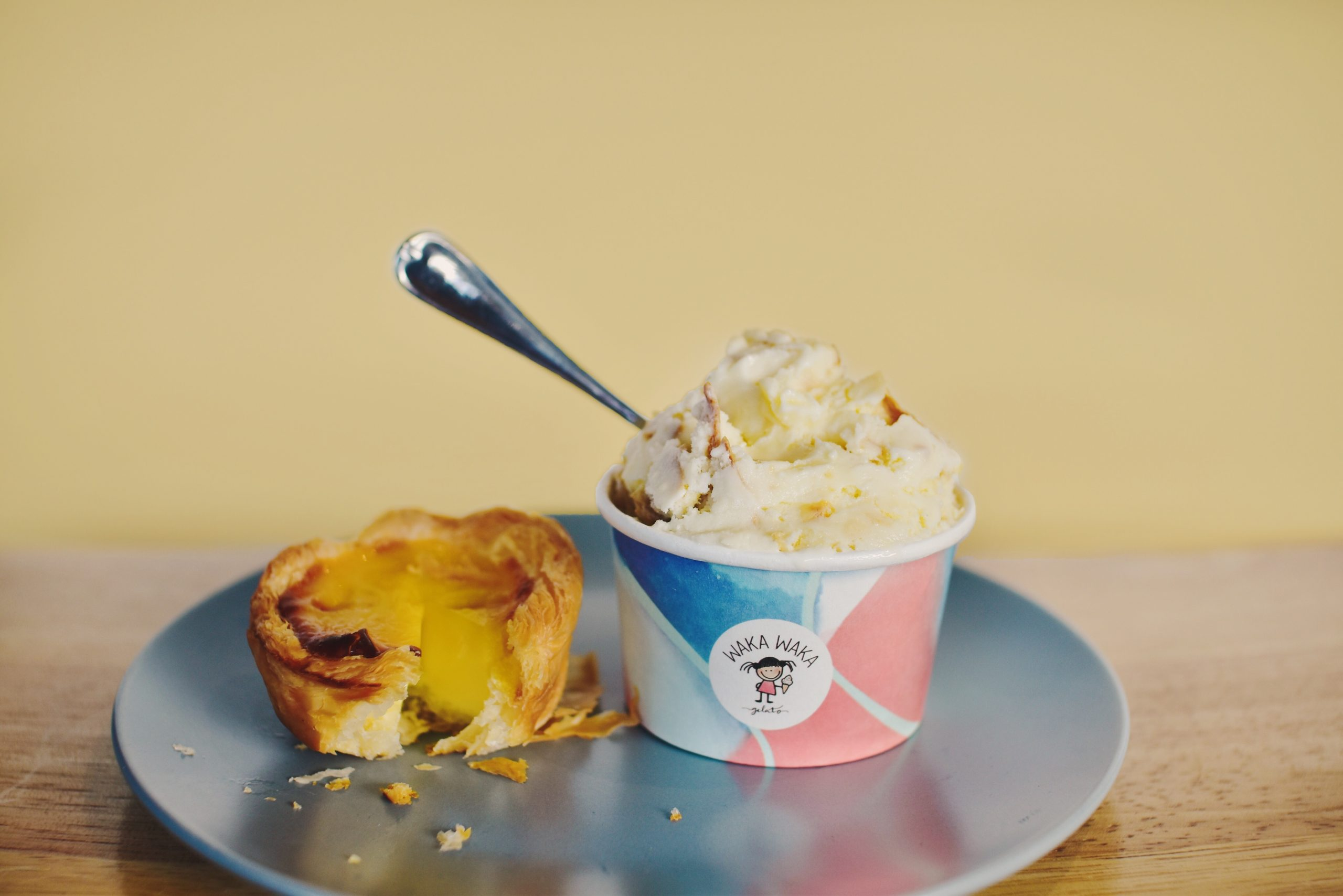 EGG TART & Banana Kek as GELATO?! New shop, new flavours
